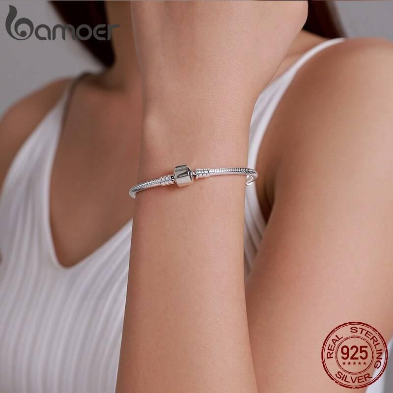 Schlangen-Armband für Beads & Charms (17-22cm) | 925 Armband 925 Charm Armbänder 6