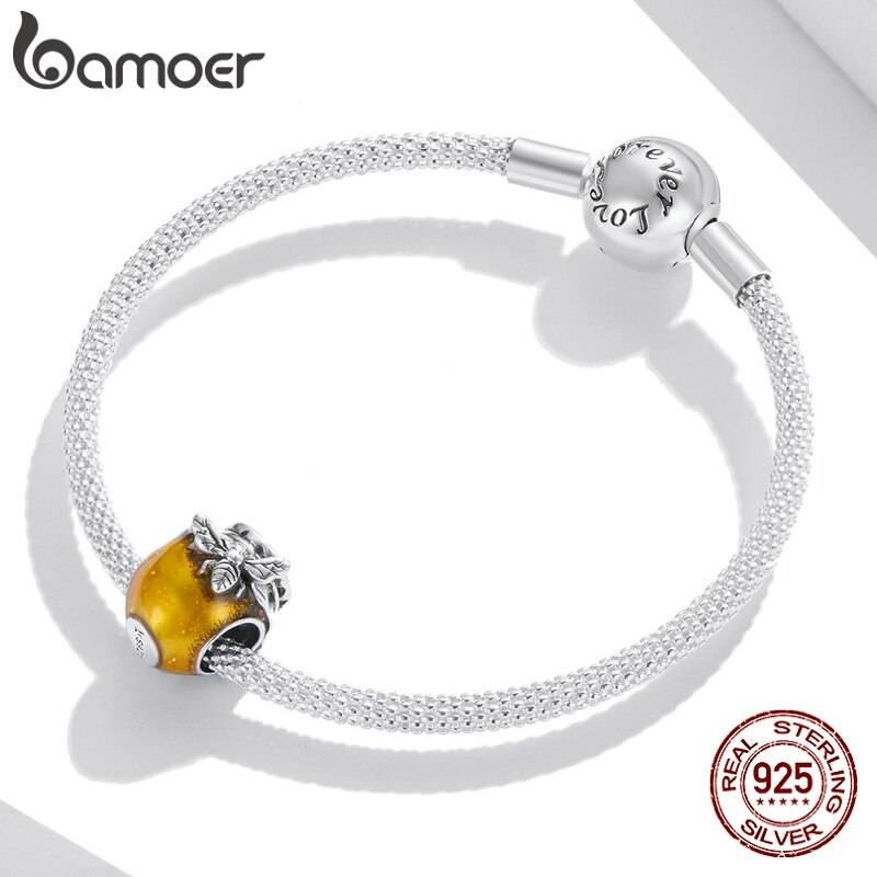 Großer Honigtopf, Gold emailliertes Honig-Glas mit Biene   925 Beads 925 Perlen Beads 4