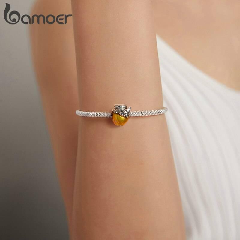 Großer Honigtopf, Gold emailliertes Honig-Glas mit Biene   925 Beads 925 Perlen Beads 5