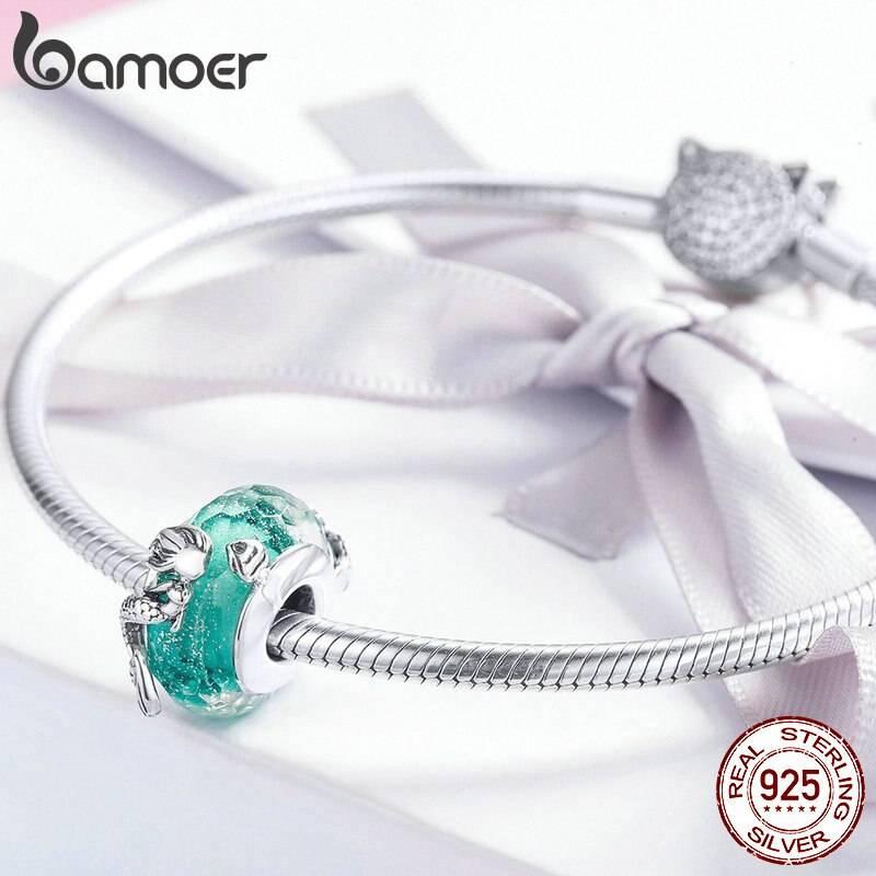 Türkis-blaue Glasperle mit Meerjungfrau oder Nixe | 925 Beads 925 Perlen Beads Meerjungfrau 4