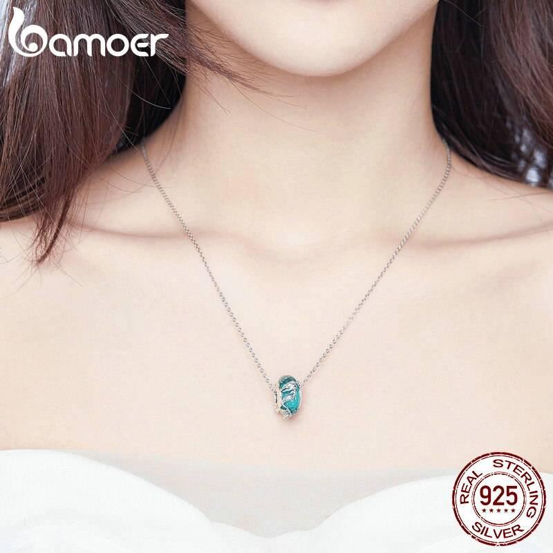 Türkis-blaue Glasperle mit Meerjungfrau oder Nixe | 925 Beads 925 Perlen Beads Meerjungfrau 5